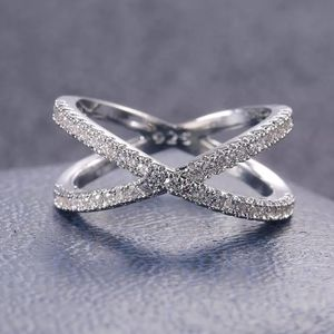 New CROSS Band Infinity pave White Sapphire Ring